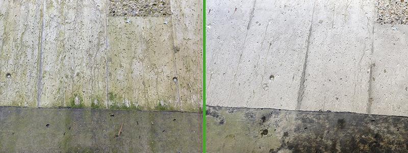Trockeneisreinigung von Stein